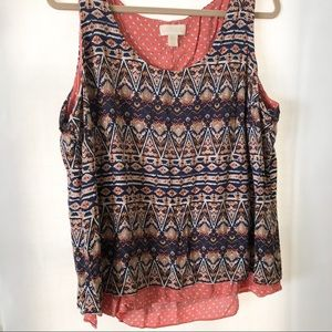 Lucy and laurel Aztec sleeveless top